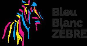 Logo Bleu blanc zebre